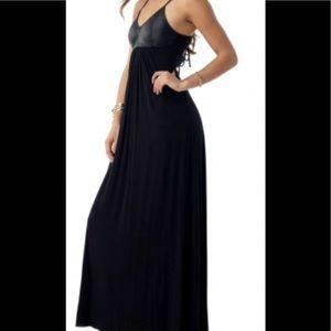 Sky Brand Genuine Leather Maxi Dress Corset Back